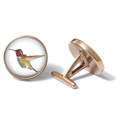 Anna's Hummingbird Cufflinks Bird Cuff Links (Solid Bronze)