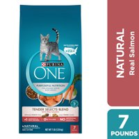 Purina One Tender Selects Blend with Real Salmon Natural Dry Cat Food, 7 lb