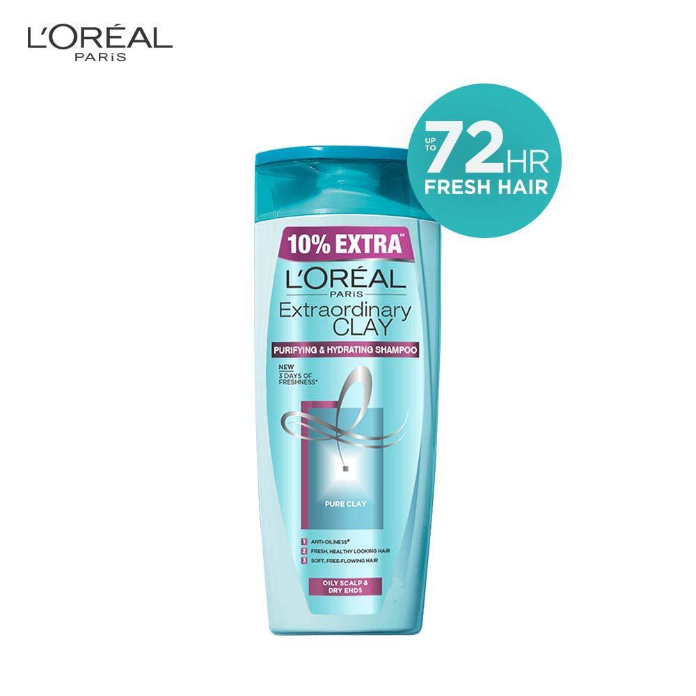 L Oreal Paris Extraordinary Clay Shampoo 175ml With 10 Extra Walmart Com Walmart Com