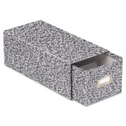 Oxford Reinforced Board Card File, Pull Drawer, Holds 1,500 4 x 6 Cards, Black/White