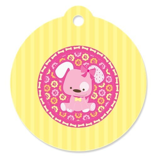 Girl Puppy Dog - Party Favor Tags (Set of 20)