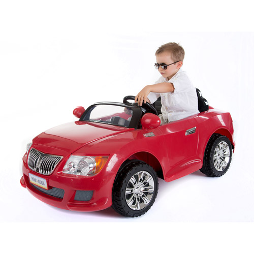 Monster Trax Convertible Car 12-Volt Battery-Powered Ride-On, Red