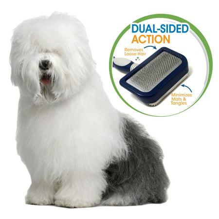Four Paws Magic Coat Pro 2 in 1 Dog Grooming Brush, Medium