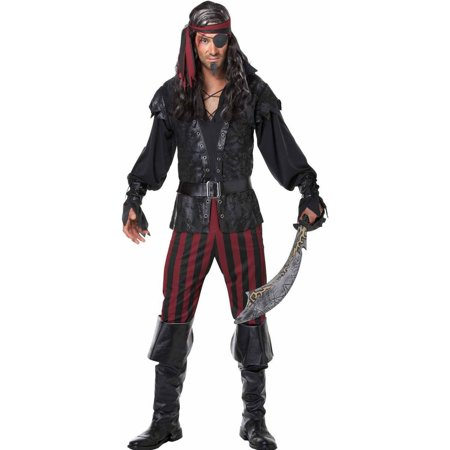 Ruthless Pirate Rogue Men's Adult Halloween Costume - Pirate Hairstyles For Halloween