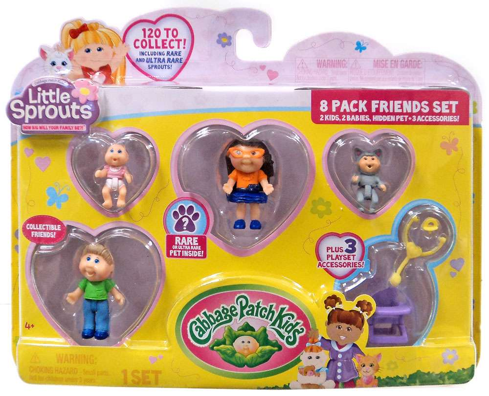 Click here to buy Cabbage Patch Kids Little Sprouts Quinn Sophia Mini Figure 8-Pack.
