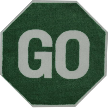 Fun Rugs Go Sign 39  Round Rug