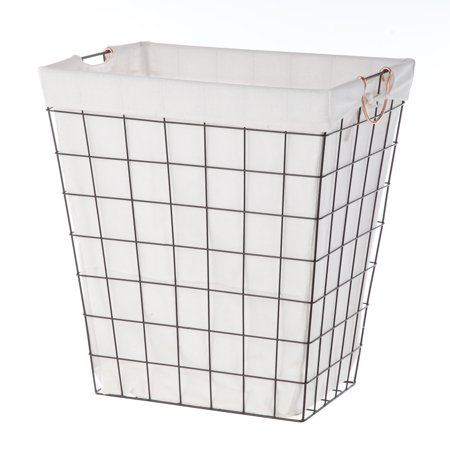 Better Homes And Garden Rectangle Wire Laundry Basket With Liner