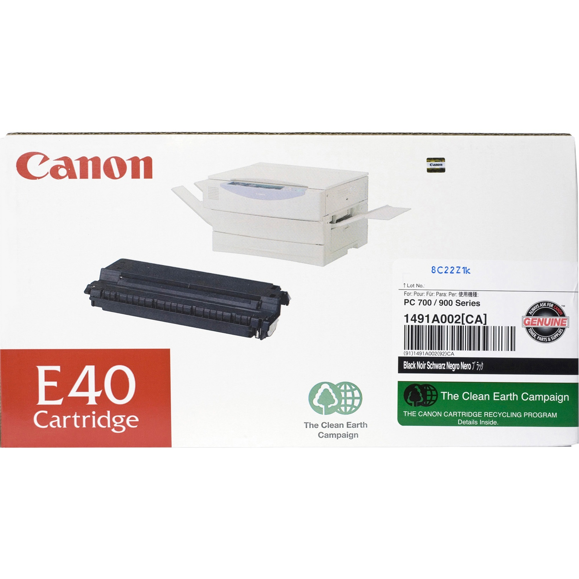Canon, CNME40, E40 Toner Cartridge, 1 Each