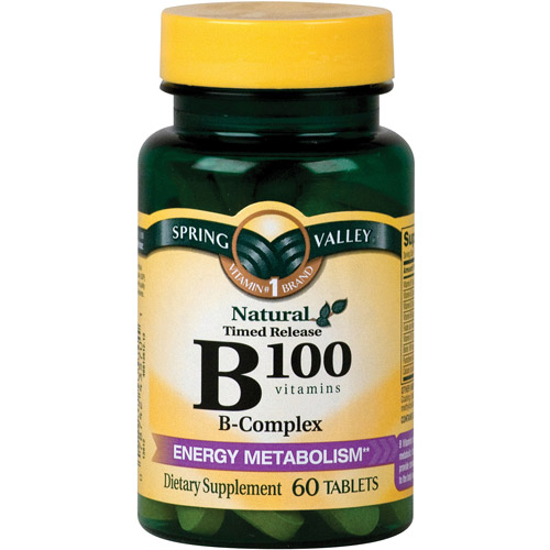 Spring Valley Natural Timed Release B100 B-Complex Tablets, 60 count