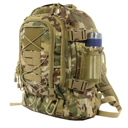 40L - 64L Outdoor Expandable Tactical Backpack Military Sport Camping Hiking Trekking Bag School Travel Gym