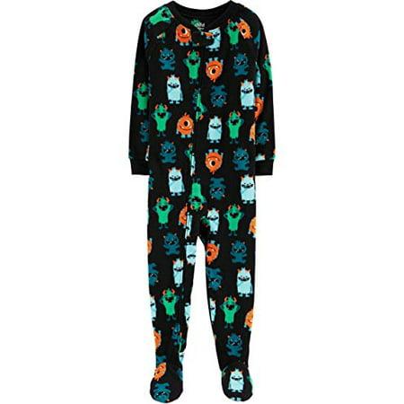 Childrens Cat Onesie (Toddler Baby Boys Girls Footed Blanket Sleeper Pajamas Animals Pig Cat Owl Monster (Monsters,)