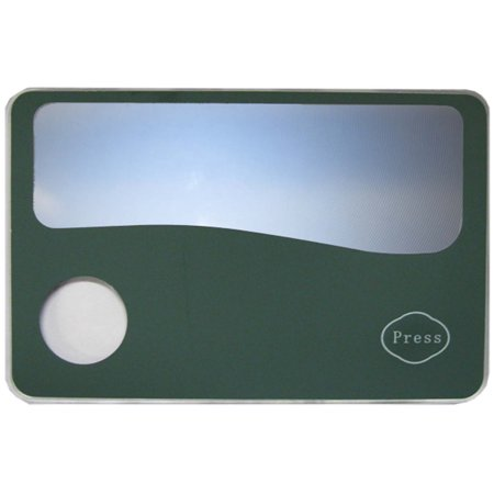 Wallet Sized Fresnel Magnifier With LED Push Button Light