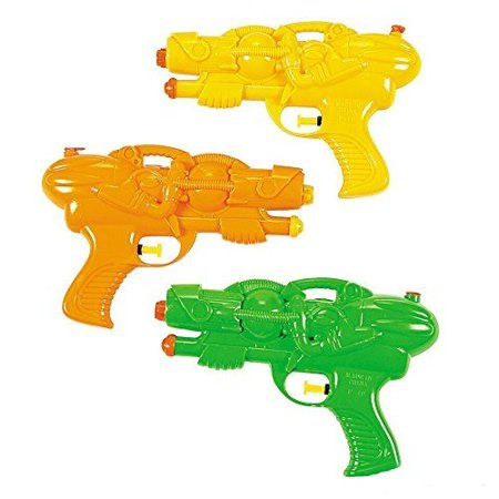 Squirt Water Guns 8 Inches - Pack Of 3 – Assorted Colors Cool And Fun Water Squirters – For Kids Great Party Favors, Bag Stuffers, Fun, Toy, Gift, Prize - By Kidsco - Fun Halloween Party Ideas For Preschoolers