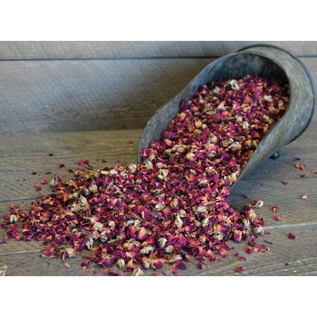 Dried Rose Buds - Rose Petals Grade A 1 lb bag -- Single Bag - Dried Rose