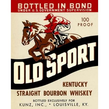 Old Sport Kentucky Straight Bourbon Whiskey Poster Print by Vintage Booze (Kentucky Straight Bourbon Whiskey Bottle)