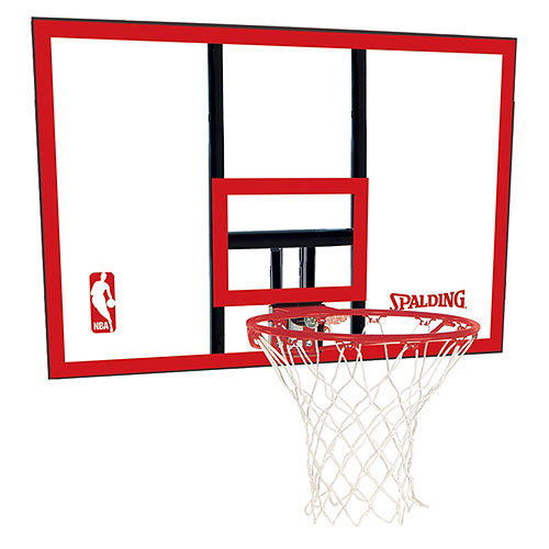 Spalding 79351 NBA Polycarbonate 44 Inch Basketball Backboard & Rim Combo