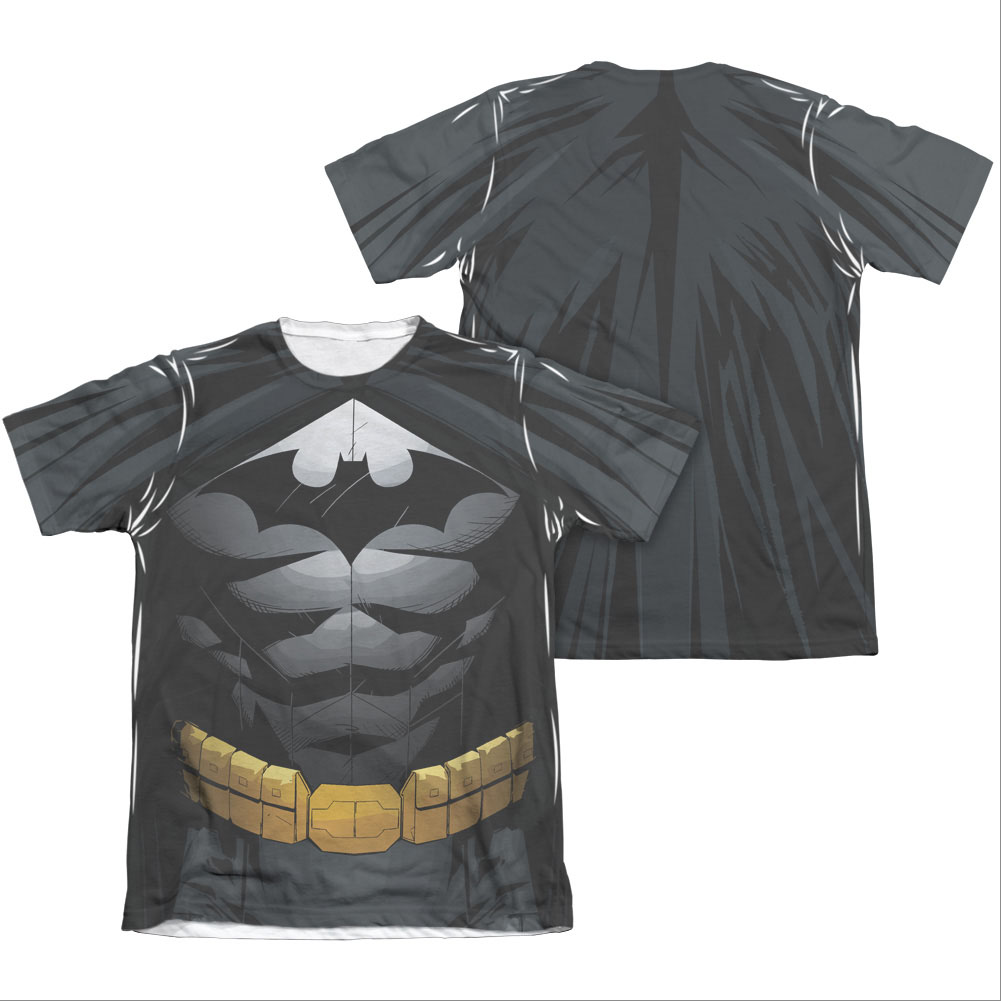 Batman Men's Uniform Costume Sublimation Two-Sided Tee Shirt by Overstock