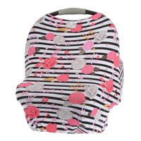 Itzy Ritzy Mom Boss Multi-Use Cover - Floral Stripe