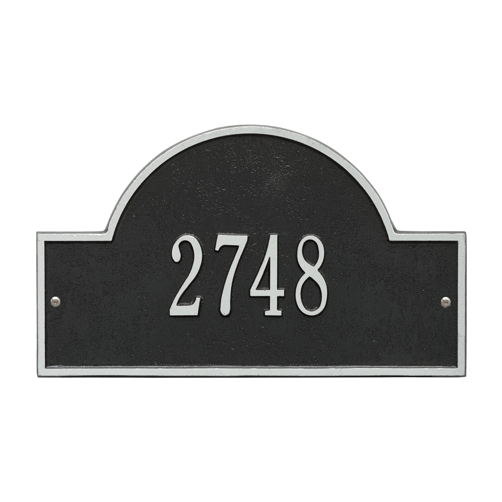Personalized Whitehall Products Standard Wall One Line Arch Marker Address Plaque in Black... by Address Plaques