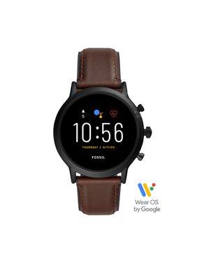 Fossil Gen 5 Carlyle HR Smartwatch - Dark Brown Leather