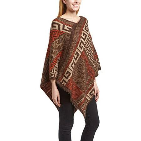 Peach Couture Western Extra Soft Fuzzy Tribal Aztec Batwing Shawl Wrap Poncho](Western Poncho)