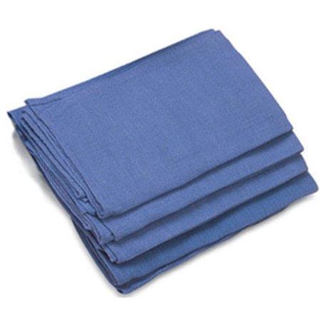 GHP 50-Pcs Standard Size Preshrunk Blue Lint Free Glass Huck Cleaning Rag Towels