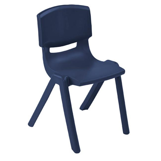 Early Childhood Resources ELR-15418-NV 18 in. Resin Stack Chair, Navy