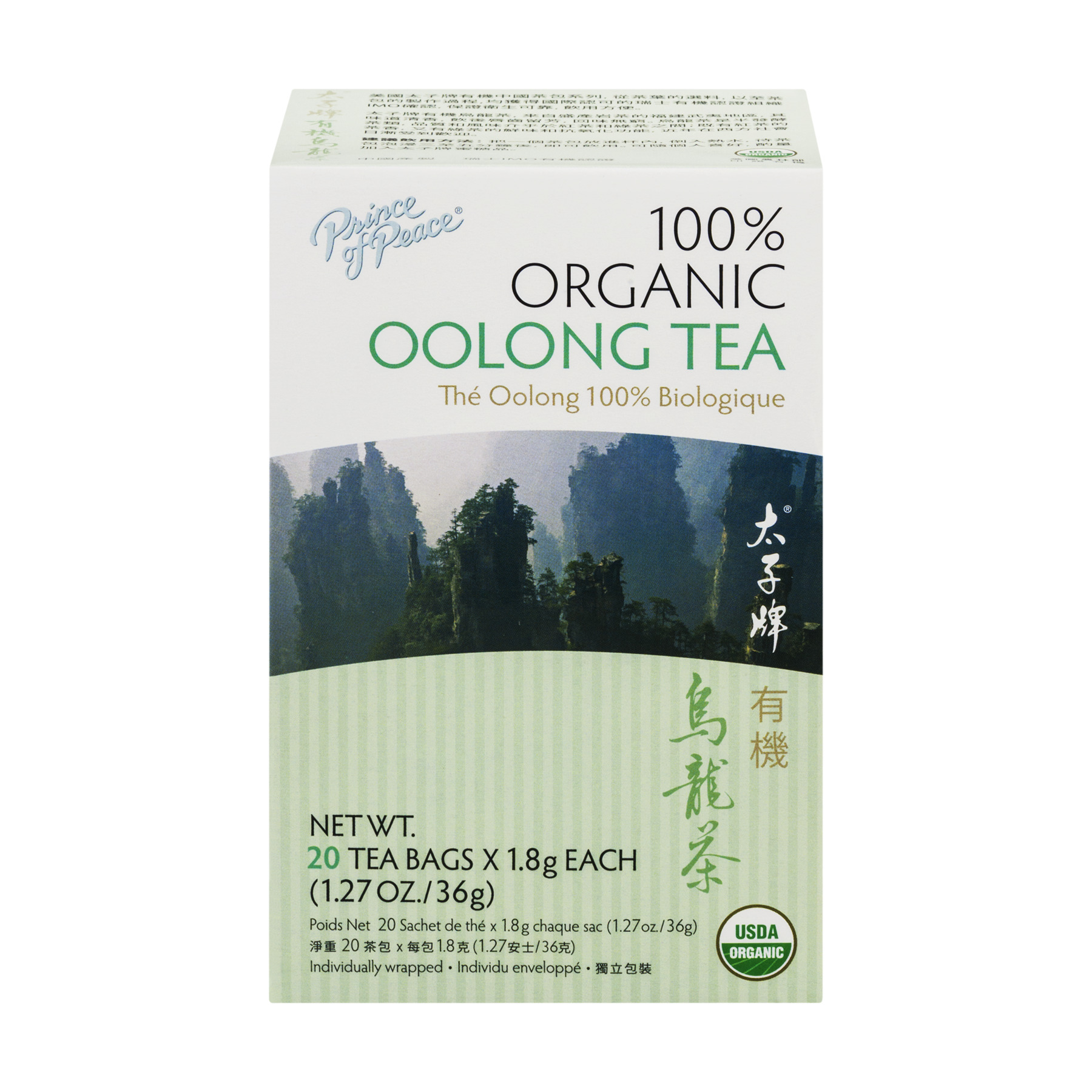 Prince of Peace Organic Oolong Tea Bags - 20 CT1.27 OZ