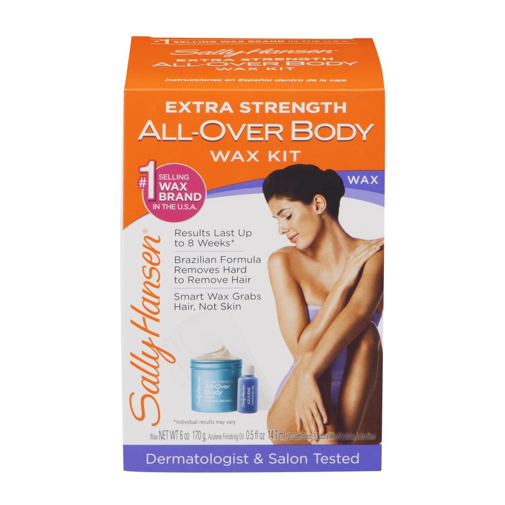 Sally Hansen Extra Strength All-Over Body Wax Kit, 1.0 CT