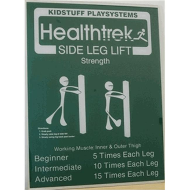 Kidstuff Playsystems HTK10 Side Leg Lift Post and Sign