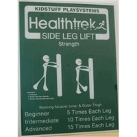 Kidstuff Playsystems HTK10 Side Leg Lift Post and Sign