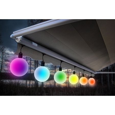 Meilo Creation Led G40 Globe String Lights 6 Count 5 Diameter Shatter