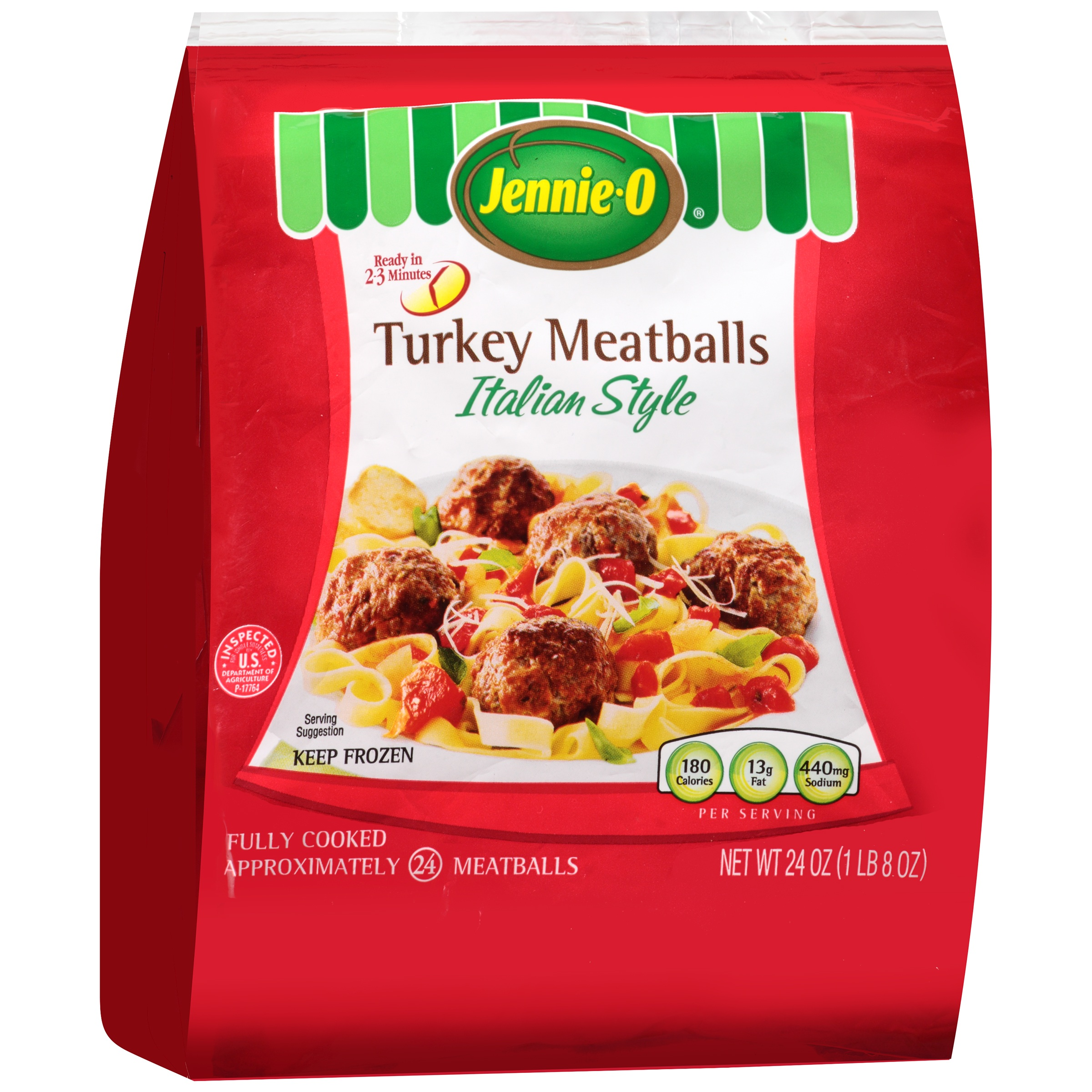 Jennie-O® Italian Style Turkey Meatballs 24 oz. Bag