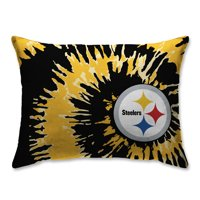 Pittsburgh Steelers Tie Dye Plush Bed Pillow - Black - No Size