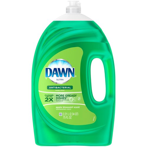 Dawn Ultra Apple Blossom Scent Antibacterial Dishwashing Liquid, 75 fl oz