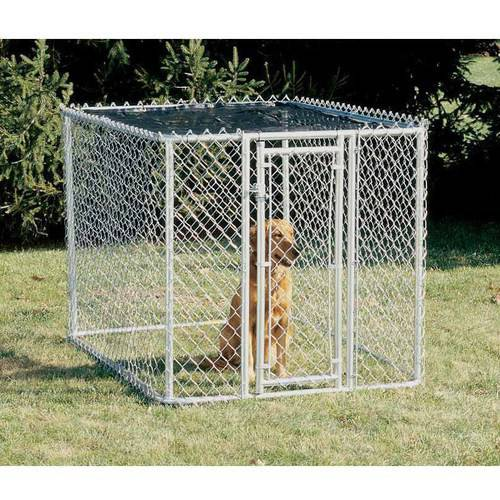 Midwest Chain Link Portable Kennel, Includes a Sunscreen