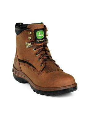 "Men's John Deere 6"" WP Casual Work Boots TAN 7.5 M"