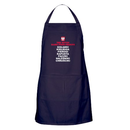 CafePress - Seven Basic Polish Food Groups - Kitchen Apron with Pockets, Grilling Apron, Baking Apron
