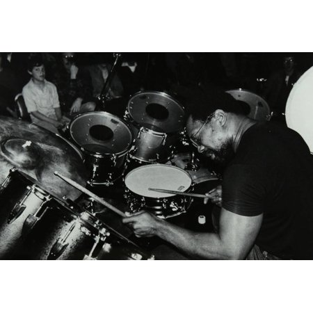 Billy Cobham Conducting a Drum Clinic at the Horseshoe Hotel, London, 1980 Print Wall Art By Denis Williams (Billy Williams Hand Signed)