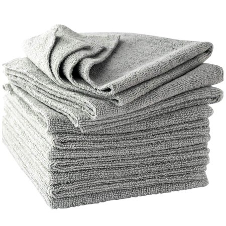 The Mop Mobs Silver Microfiber Antibacterial Cloth Wipes Out Germs & Allergens To Protect Your Familys Health Without Harsh Chemicals! 4 Pack. Super Soft Cleaning Towels That Wont Scratch or Streak