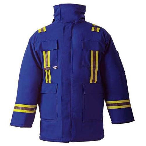 CHICAGO PROTECTIVE APPAREL 600-CC-USRB-S Flame-Resistant Parka, Royal Blue, S