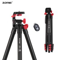 ZOMEi T80 Lightweight Phone / Pad Tripod Video Tripod Travel Selfie Tripod with BT Remote Control Compatible with HUAWEI 2.8-6.1 Inch Width Smartphone Pad Compatible with GoPro Action Camera and Mos