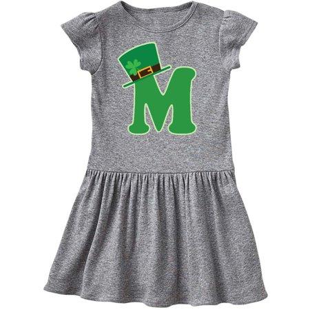 Irish St Patricks Day Letter M Monogram Toddler Dress - St Patricks Day Dresses