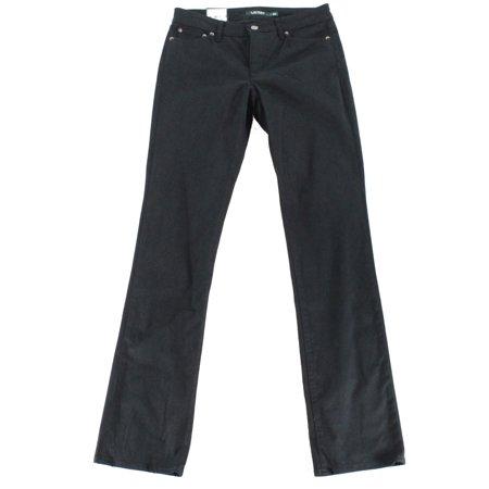 Ralph Lauren Womens Black Pleated Skinny Jeans  Size: 18