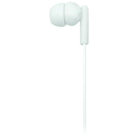 Naxa NE-938 WHITE SPARK Isolation Stereo In-Ear Earbuds (White)