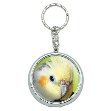 Cockatiel Bird Pet Portable Ashtray Keychain - Bird Keychain