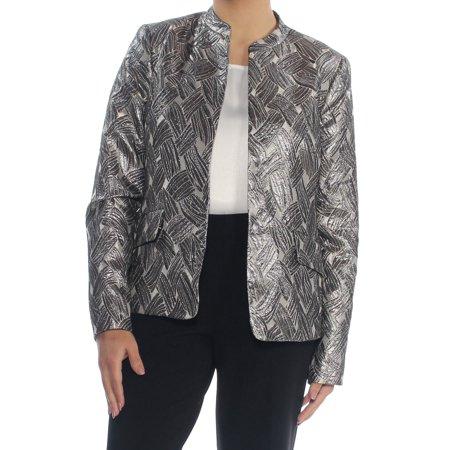 KASPER Womens Gold Open Blazer Jacket  Size: 6](Gold Sequin Blazer)