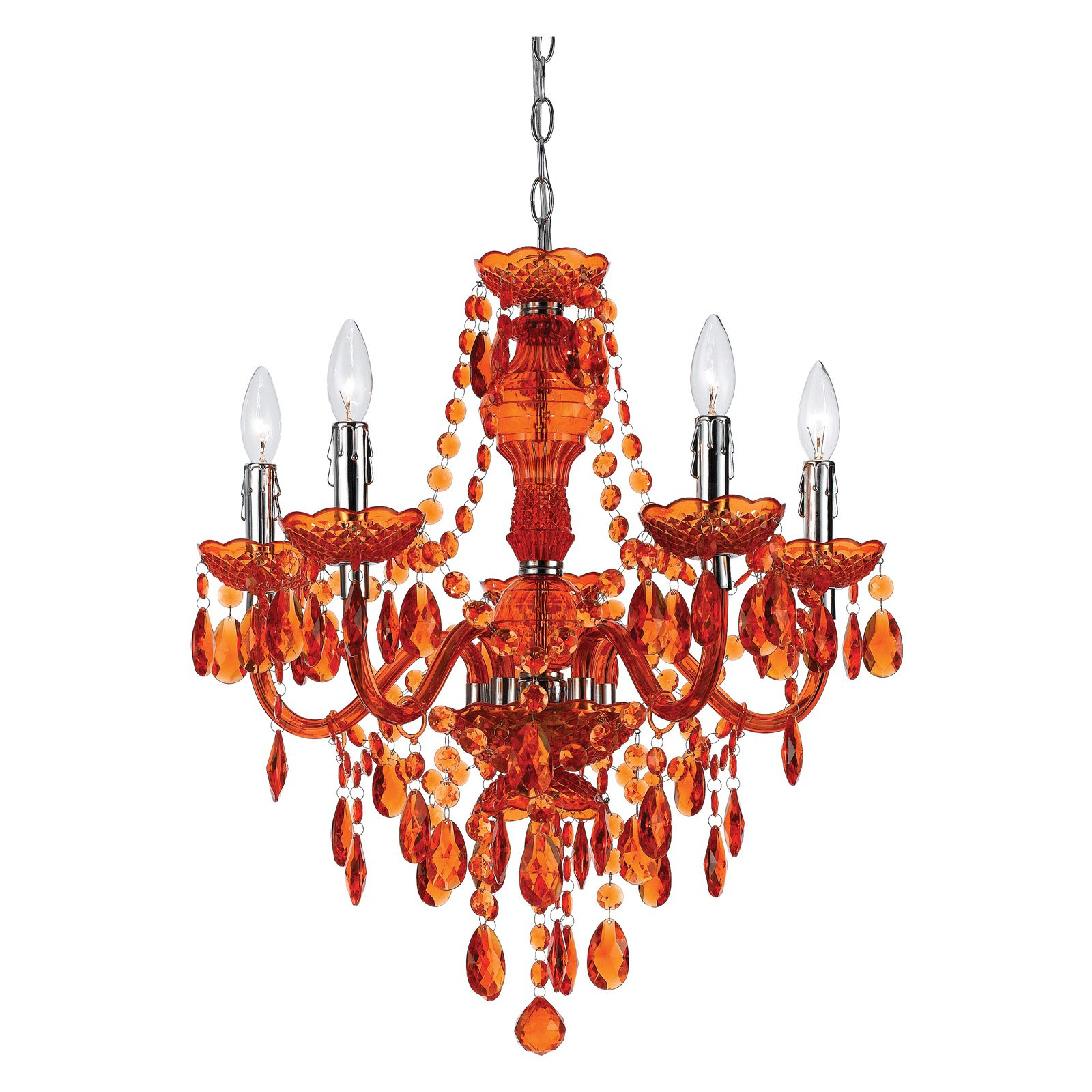 AF Lighting 8525-5H Fulton Chandelier, Green