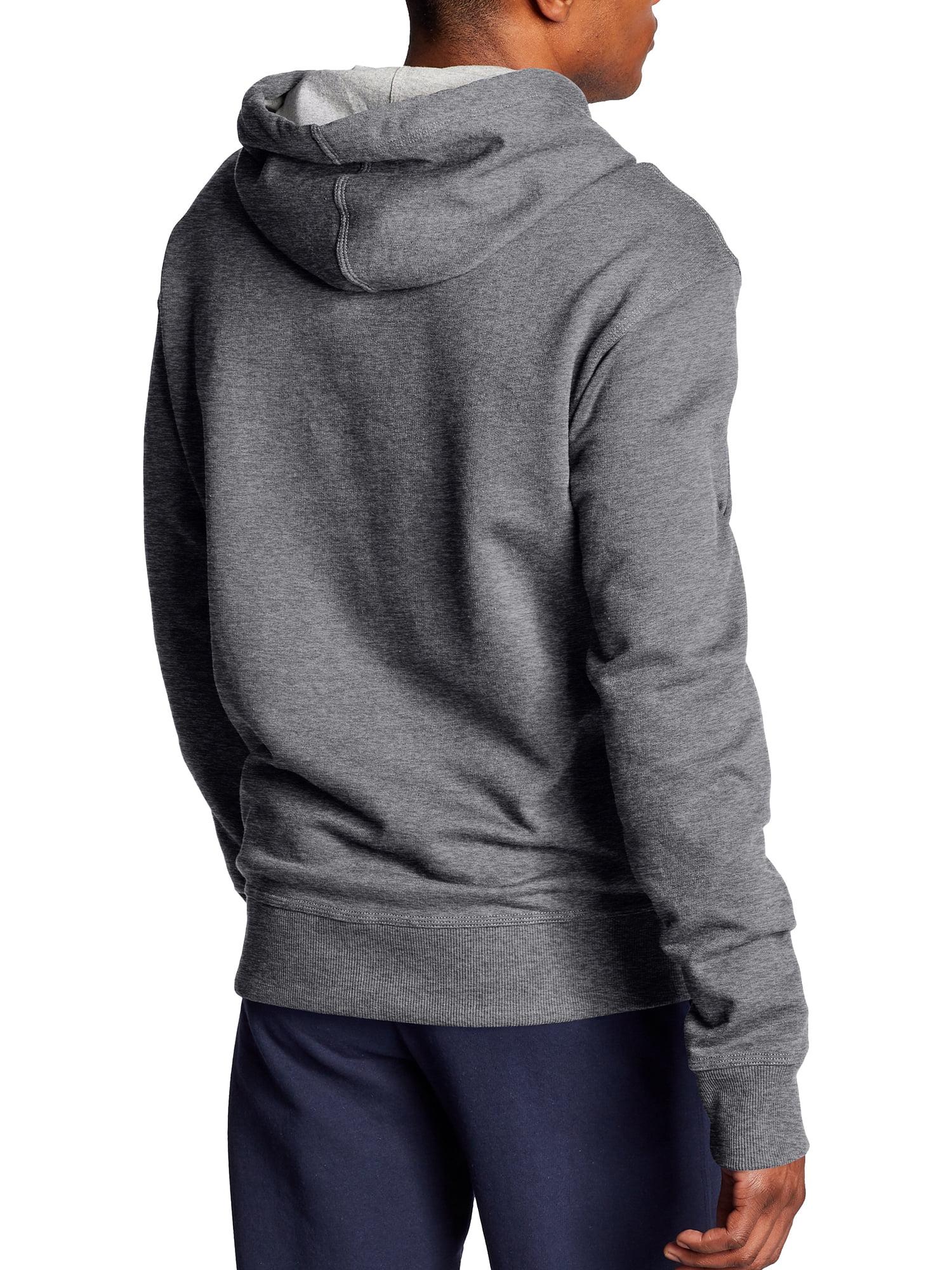 Champion Men Fleece Quarter Zip Hoodie Embroidered Logo