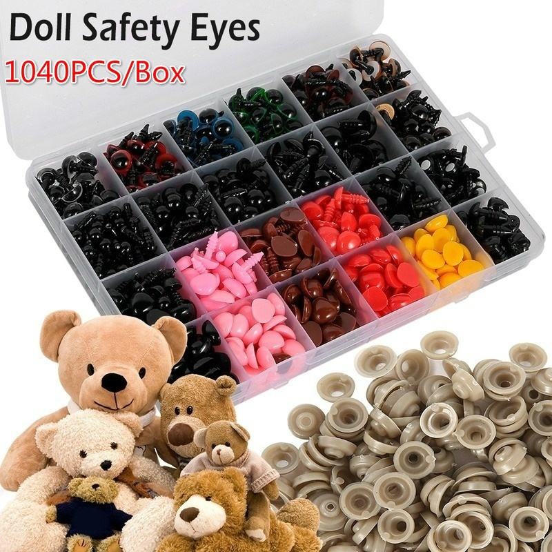 Soft Toys black Teddy Bears 5 or 10 Plastic Safety Noses – Soft – 12 mm